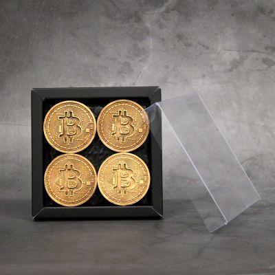 Bitcoin munten BRONS 4 stuks