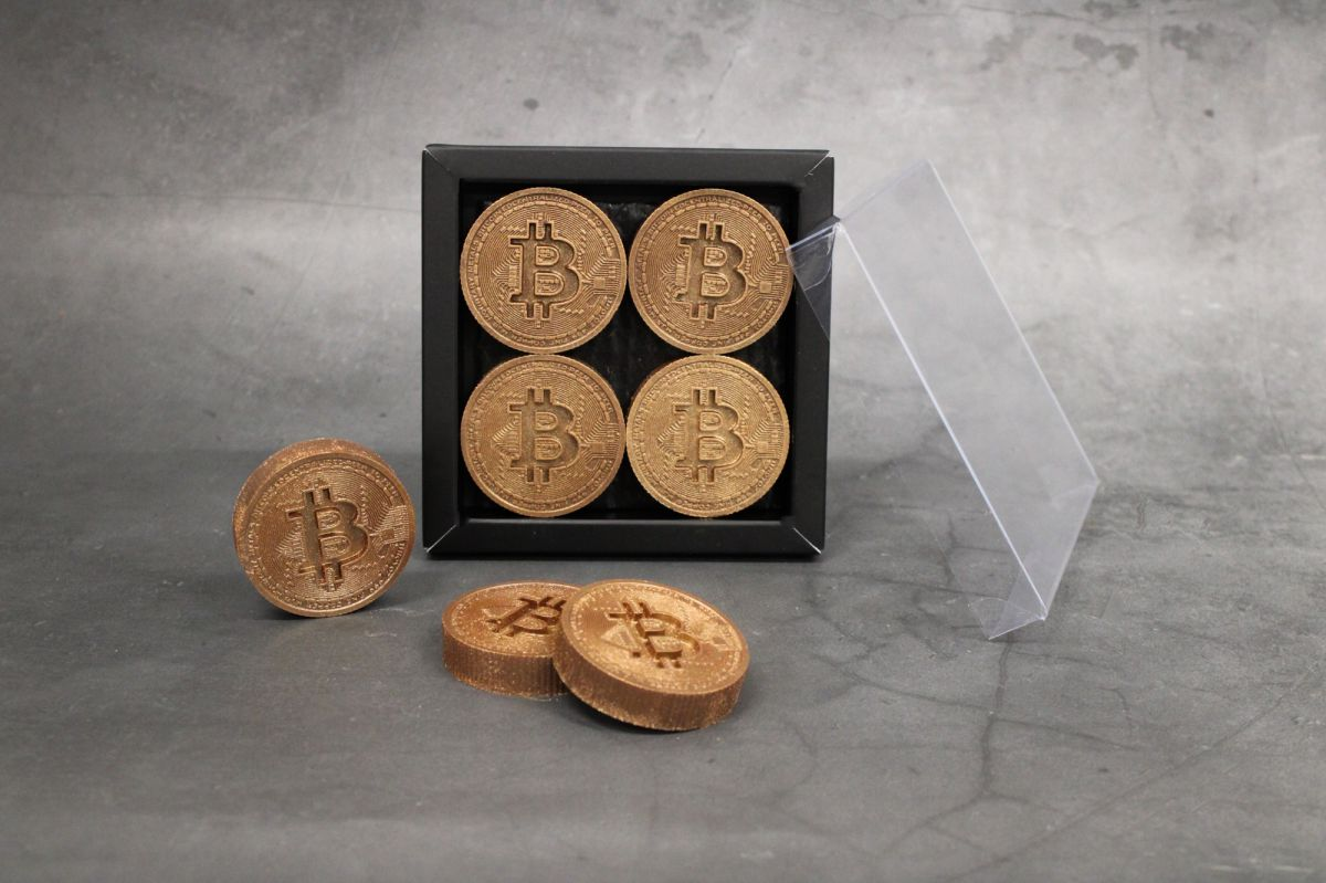 bitcoin munten brons 4 stuks puur