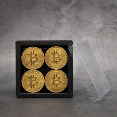 Bitcoin munten GOUD 4 stuks