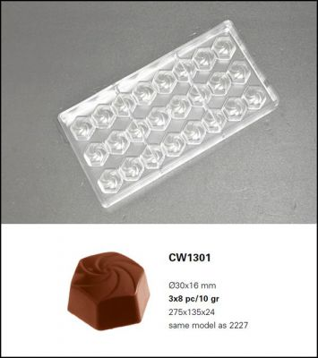 Bonbonvorm Chocolate World Wiro (24x)