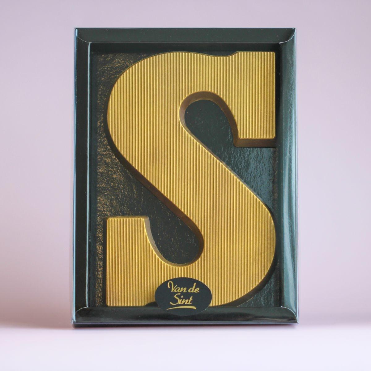 letter s goud massief puur