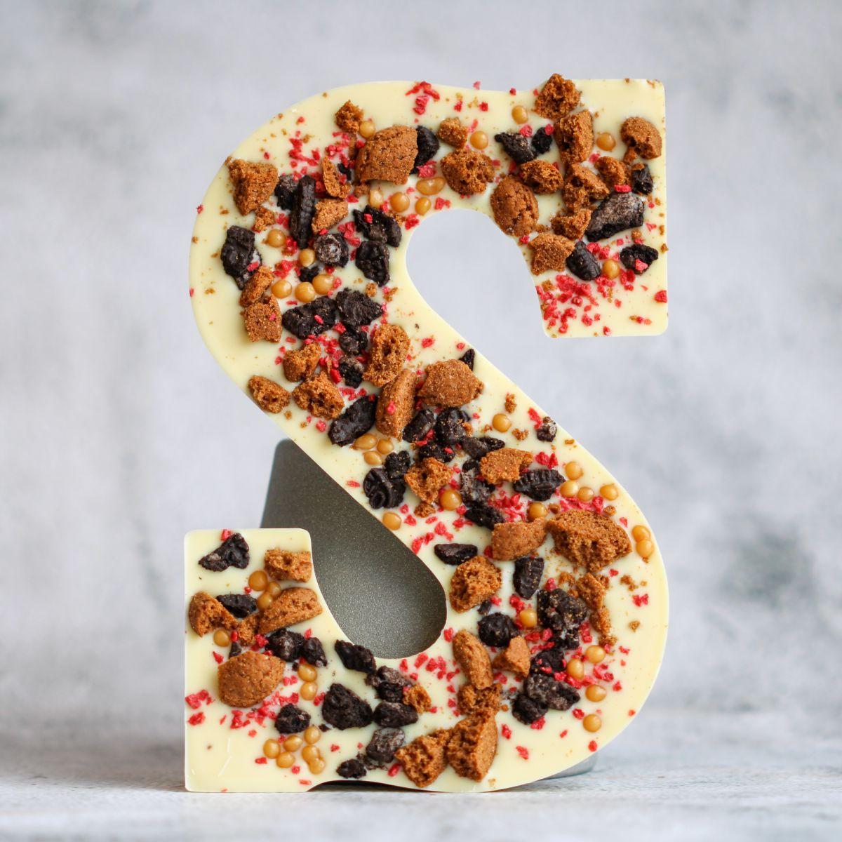 letter s salted caramel oreo topped